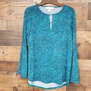Michael kors blue tunic blouse size S